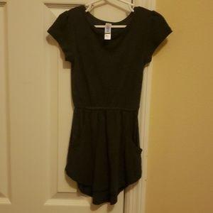 Lularoe Mae dress with pockets. Dark charcoal gray
